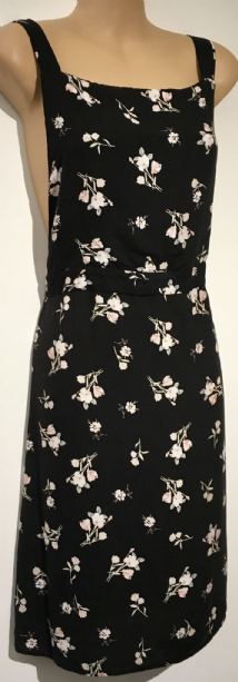 841248faee NEW LOOK MATERNITY BLACK FLORAL PINAFORE DRESS SIZE UK 14 .
